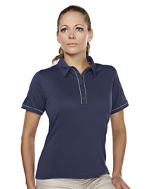 Tri-Mountain 056 Women's 100% Polyester Knit Polo Shirts at bigntallapparel