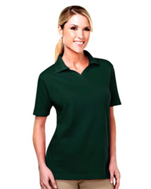 Tri-Mountain 091 Womens 60/40 Johnny collar easy care golf shirt. at bigntallapparel