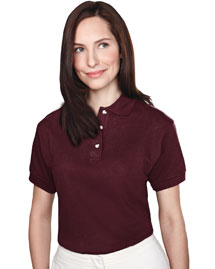 Tri-Mountain 102 Womens 60/40 pique golf shirt. at bigntallapparel