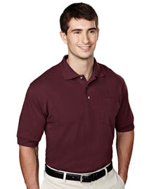 Tri-Mountain 106 Mens Pique Pocketed Polo Golf Shi