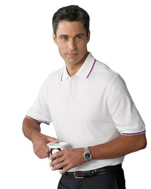 Ashworth 1114C Men's Performance Wicking Blend Polo at bigntallapparel