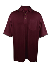 Tri-Mountain 117 Big and Tall Mens  Ultracool Mesh Pocketed Polo Golf Shirt at bigntallapparel