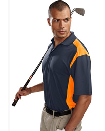 Mens 100% Polyester Knit Polo Shirt.