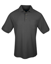 Tri-Mountain 169 Mens Pique Pocketed Polo Golf Shirt at bigntallapparel
