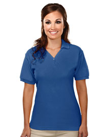 Tri-Mountain 186 Womens cotton baby pique y-neck golf shirt. at bigntallapparel