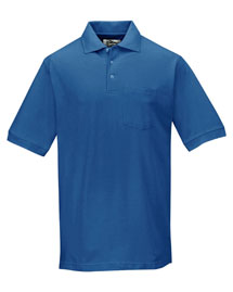 Mens Baby Pique Pocketed Polo Golf Shirt
