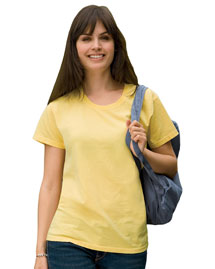 Ladies' 5.6 oz. Pigment-Dyed & Direct-Dyed Ringspun T-Shirt