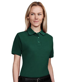 Womens 60/40 stain resistant pique golf shirt.