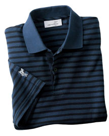Ashworth 2048 Men's Dual Tone Piqué Stripe Polo at bigntallapparel