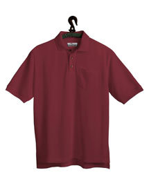 Mens Stain Resistant Pique Pocketed Polo Golf Shirt