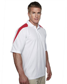 Men's 100% Polyester Knit Polo Shirt, Raglan Sleeve