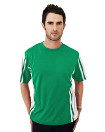 Tri-Mountain 230 Men's 100% Polyester Tmr  Crewneck Knit Tee, W/ Rib Collar at bigntallapparel