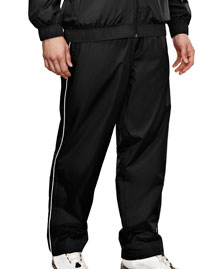 Men's 100% poly micro wind pants with mesh lining