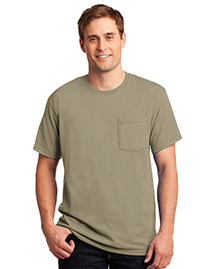50/50 Cotton/Poly Pocket T Shirt