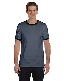Bella 3055CALP Men's Jersey Short-Sleeve Ringer T-Shirt at bigntallapparel
