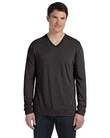 Bella 3425 Men's Jersey Long-Sleeve V-Neck T-Shirt at bigntallapparel