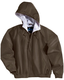 Mens Nylon Hooded Jacket with Jersey Lining