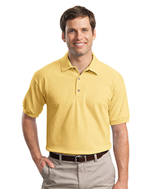 Mens Ultra Cotton 65 Ounce Pique Knit Sport Shirt