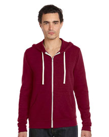 Unisex 8.2 oz. Triblend Sponge Fleece Full-Zip Hoodie