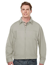 Tri-Mountain 4000 Mens Peached Jacket with Poplin