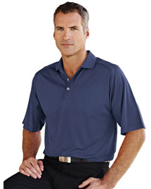 Men's 100% Polyester Knit Polo Shirt, Raglan Sleeve W/ Grid Pattern