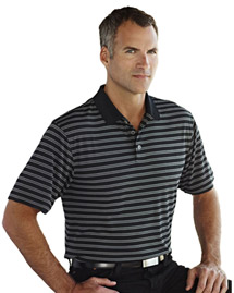 Men's 100% Polyester Knit Polo Shirts.