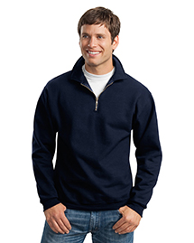 Mens Super Sweats 1/4 Zip SweatShirt with Cadet Collar