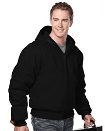 Big and Tall Mens  Canvas Hooded Work Jacket With Quilted Lining