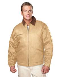 Tri-Mountain 4800 Mens Canvas Work Jacket with Qui