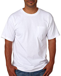 Bayside 5070     Adult Short-Sleeve Cotton Tee with Pocket  at bigntallapparel