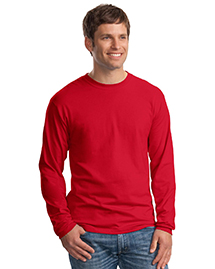 Mens Beefy 100% Cotton Long Sleeve T Shirt
