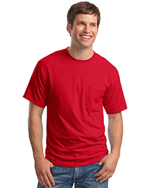 Hanes 5190 Mens Beefy 100% Cotton T Shirt with Poc