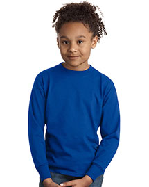 Hanes® - Youth Tagless 100% ComfortSoft® Cotton Long Sleeve T-Shirt. 5546