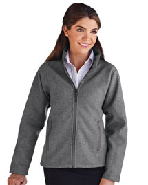Womens wool-blend bonded jacket with anti-pilling micro fleece lining.