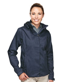 Womens 100% Polyester twill jakcet w/600 AC coating hoodly jacket