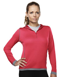Womens 100% Polyester 1/4 Zipper Knit Pullover.