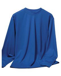 Tri-Mountain 622 Mens Poly Ultracool Pique Long Sleeve Crewneck Shirt at bigntallapparel