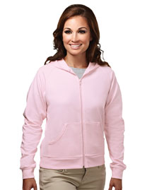 Womens cotton/poly full zip...