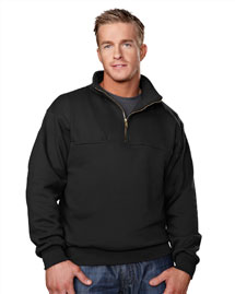 Tri-Mountain 644 Mens Cotton/Poly 1/4 Zip Firefigh