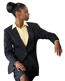 Edwards 6480ED WOMEN'S ONE-BUTTON CARDIGAN WOOL BLEND SUIT COAT at bigntallapparel