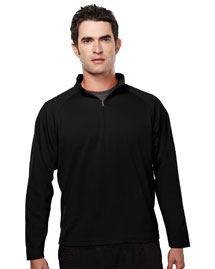 Mens Ultracool Pique 1/4 Zip Pullover Shirt