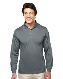 Mens Poly Ultracool Pique Long Sleeve Golf Shirt