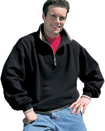 Big and Tall Mens 1/4 Zip Fleece Jacket With Trim