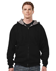 Tri-Mountain 699 Mens Cotton/Poly Sueded Finish Hooded Full Zip SweatShirt with Thermal Lining at bigntallapparel