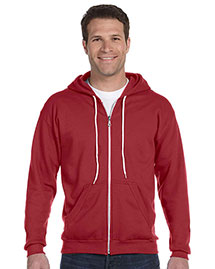 Anvil 71600 Ringspun Full-Zip Hooded Sweatshirt at bigntallapparel