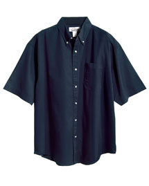 Mens Easy Care Short Sleeve Twill Dress Shirt
