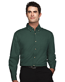 Mens Easy Care Long Sleeve Twill Dress Shirt