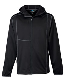 Mens Poly Fleece long sleeve ULTRA COOL jacket with hood.