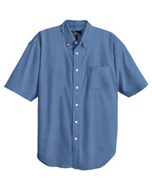 Mens Stain Resistant Short Sleeve Oxford Dress Shirt