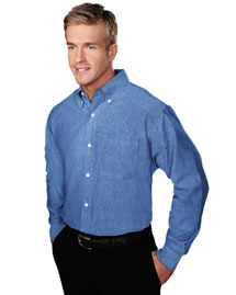 Tri-Mountain 750 Mens Stain Resistant Long Sleeve